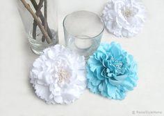 6 pieces Set. Aqua Blue Large Peonies Floral Decor. Romantic Wedding Decor. Bridal Shower Decor. Artificial Flowers Housewarming Gift