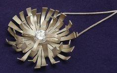 Matt Silver Flower Pendant jillbelldesigns.co.uk