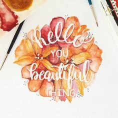 Entre peinture et typographie, je vous propose une sélection des créations douces et délicates de la graphic designer June Digan, basée à Manille aux Ph