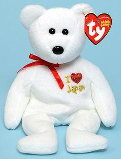Japan (I love) - bear - Ty Beanie Baby