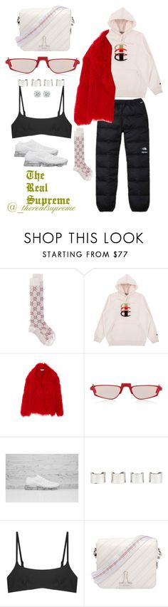 """""""LUNA"""" by supremestyles on Polyvore featuring The North Face, Gucci, Andy Wolf, Maison Margiela, Matteau and Off-White"""