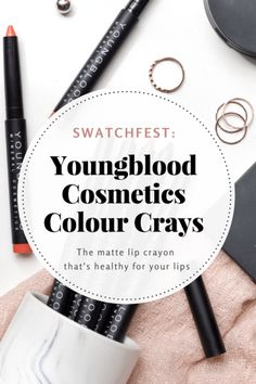 SWATCHFEST: YOUNGBLOOD COLOUR CRAYS MATTE LIP CRAYONS