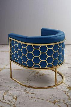 My Furniture Alveare Brass Tub Chair/ Hexagon furniture / American mid-century furniture/ brass tub chair Resin Furniture, Iron Furniture, Steel Furniture, Home Decor Furniture, Furniture Design, Furniture Dolly, Design Living Room, Living Room Decor, Luxury Homes Interior