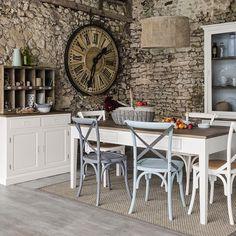 murs pierre maison de campagne chic salle à manger
