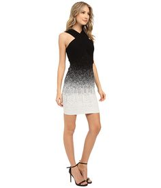 Shoshanna Yulia Dress Black/White - 6pm.com