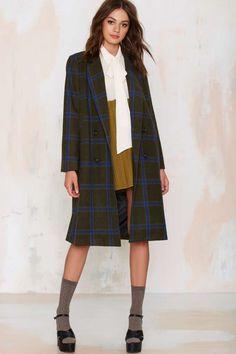 J.O.A. Melina Plaid Coat - Jackets + Coats