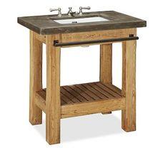 Abbott Single Sink Console #potterybarn