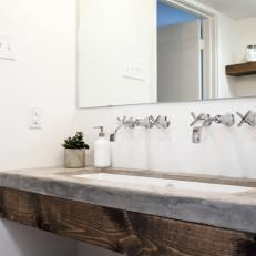 upstairs bath...Photos | HGTV's Fixer Upper With Chip and Joanna Gaines | HGTV