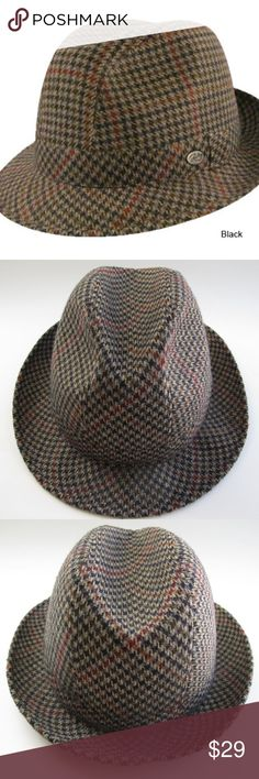 21009f2d92a Bailey of Hollywood Men s Houndstooth Trilby Hat Bailey Hollywood Model   25200 Crafted in Italy