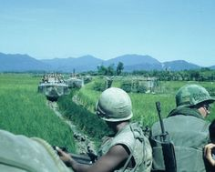 1st Bn, 7th Marines on an operation, 1968 ... riding on top of the amtracs since no one wanted to be inside if it hit a mine ...plus it gave them 360 situational awareness ...