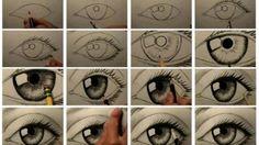Karakalem Aşamalı Göz Çizimi