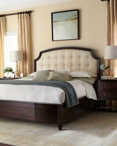 """Layton"" Bedroom Furniture at Horchow. Layton California King Bed: $1,679.00 USD, Item# HCF13_H61X5, WHITE."