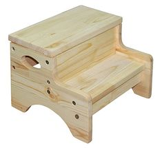 Chunmei Solid Wooden Two Step Stool for Toddler's Potty Training Toddler's Stool for Potty Training and Use in the Bathroom or Kitchen wood stove wooden chairs wooden doors wooden step stool wooden table Woodworking Bed, Cool Woodworking Projects, Wood Projects, Woodworking Workshop, Woodworking Techniques, Diy Table, Wood Table, Pallet Furniture, Kids Furniture