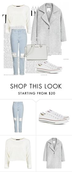 """Untitled #205"" by kiper ❤ liked on Polyvore featuring Topshop, Converse, MANGO and Michael Kors"