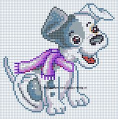 Free cross stitch dog pattern designs
