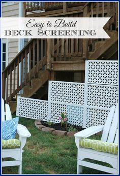 See how easy it is to easily conceal the space under your deck using Connections Fencing, no concrete footers necessary! #freedomoasis #ad