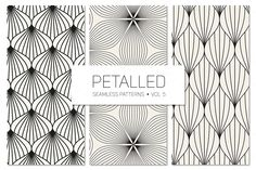 Petalled Seamless Patterns Set 5 by Curly_Pat on Creative Market