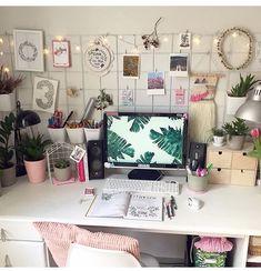 Home Office Decor, Home Office Design, Home Decor, Diy Room Decor, Bedroom Decor, Master Bedroom Redo, Ideas Para Organizar, Aesthetic Room Decor, Deco Design