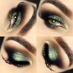Cat eyes com azul/dourado