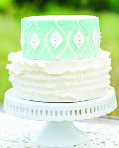 Baby blue ruffled cake | Just Crumbs | Erin Lindsey #wedding