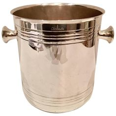 Christofle Silver French Art Deco Style Champagne Bucket | From a unique collection of antique and modern barware at https://www.1stdibs.com/furniture/dining-entertaining/barware/