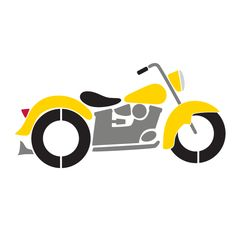 Motorcycle Wall Stencil for Transportation Themed Kids Room