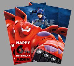 Printable Disney Big Hero 6 Movie Theme Birthday Party by PeekaOwl