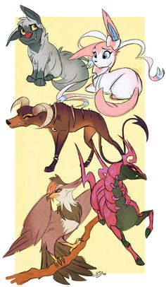 Happy Pokemon Day by probablyfakeblonde on DeviantArt Pokemon Team, Pokemon Fan Art, Cool Pokemon, Pokemon Stuff, Pokemon Comics, Touko Pokemon, Pokemon Memes, Pokemon Fusion Art, Cute Animal Drawings