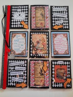 Alice in Wonderland themed pocket letter | by peachesandpinklemonade