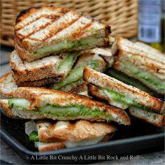 A Little Bit Crunchy A Little Bit Rock and Roll: Grilled Pesto Panini Sandwiches