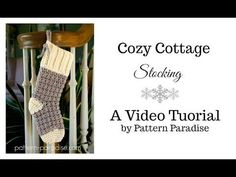 Knitting Patterns Needles Cozy Cottage Christmas Stocking (Right Hand Version) Crochet Christmas Stocking Pattern, Crochet Stocking, Crochet Christmas Ornaments, Christmas Knitting, Sweater Christmas Stockings, Shabby Chic Christmas Stockings, Diy Stockings, Sweet Home Design, Cottage Christmas