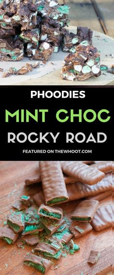 Everyone& loving this Mint Chocolate Chip Rocky Road Bars Recipe and you will too. You only need a few ingredients and it& no bake and easy to make. Chocolate Lollies, Chocolate Sweets, Mint Chocolate Chips, Homemade Chocolate, Chocolate Recipes, Xmas Food, Christmas Cooking, Christmas Desserts, Christmas Treats