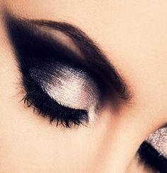 Shimmery smokey eyes = Saturday night perfection!