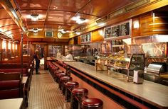Pristine, historic diner preserved at the Henry Ford Museum in Dearborn. Vintage Industrial Decor, Industrial House, Industrial Style, Vintage Decor, Vintage Style, Diner Restaurant, Diner Nyc, Diner Booth, Diner Decor