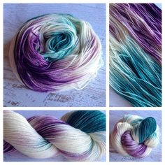 'LITTLE' MERMAID. Yarn Baby LLC, fingering weight hand-painted yarn. Www.yarnbaby.biz #yarn