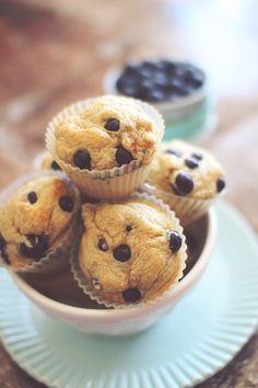 Blueberry Cheesecake Protein Muffins {Flour, Sugar & Butter FREE}