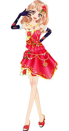 Aikatsu STARS! Mahiru Red Luxury Coord