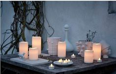 Ikea Salon Accessories - Diy World Candles With Jewelry Inside, Jewelry Candles, Candle Rings, Flickering Lights, Scented Candles, Pillar Candles, Led Lampe, Types Of Lighting, Tea Lights