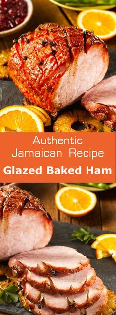 Glazed baked ham is a deliciously glazed traditional Christmas dish in Jamaica as well as other parts of the Caribbean. Ingredients lb ready-to-serve ham A Christmas Main Dishes, Christmas Ham, Tropical Christmas, Christmas Night, Ham Recipes, Cooking Recipes, Dinner Recipes, Caribbean Christmas, Easter Dishes