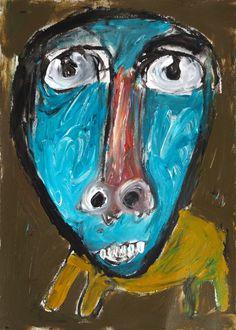 """Al atardecer"" de Victoria Barranco @ VirtualGallery.com Pintura acrílica sobre cartón de 37,4x52,5 cm (14.7x20.7 in). Arte marginal. Gato. (2015)-"