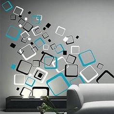 Multiplex Square Wall Decals   Vinyl Wall Decals   Trendy Wall Designs