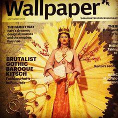 B-Tal rings on the cover of Wallpaper's september issue! Dynamic Design, Brutalist, Kenzo, Baroque, Empire, Gothic, September, Wallpaper, Cover
