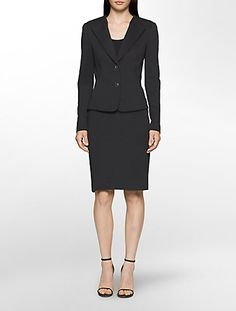Update your business attire with Calvin Klein's fashion-forward women's pants suits, skirt suits & women's blazer jackets in trendy colors & fabrics. Business Dresses, Business Attire, Suits For Women, Clothes For Women, Trendy Colors, Skirt Suit, Blazer Jacket, Fashion Forward, Calvin Klein