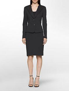 Black Scuba Suit Set Calvin Klein