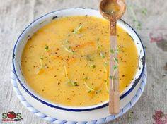 Winter Vegetable Soup [Lactose-Free & Less sodium] Broccoli Soup Recipes, Healthy Soup Recipes, Chili Recipes, Vegetarian Recipes, Cooking Recipes, Winter Vegetable Soup, Winter Vegetables, Vegetable Garden, Cocina Light