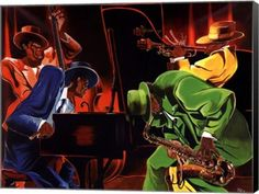 - Description - Why Accent Canvas? This exquisite Mood 4 Jazz Music Canvas Wall Art Print by Steven Johnson is created using quality fade resistant inks on a premium cotton canvas to ensure durability