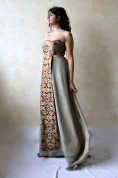 Alternative wedding dress Bridal gown Designer dress by LoreTree