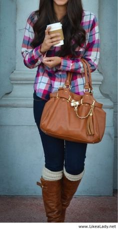 Fall fashion--don't like the bag at all but THAT SHIRT IS ADORABLE.