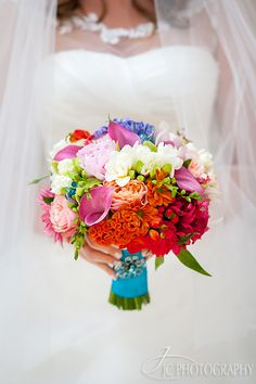 Colorful crazy bouquet! Perfect if you can't decide what flowers you like best.