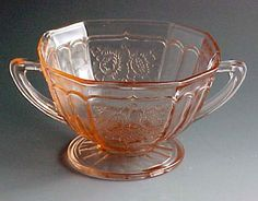 Pink depression glass vintage